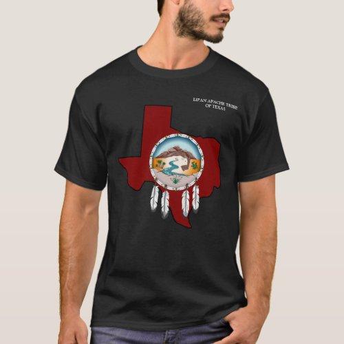 Lipan Apache Tribe Texas Mens Basic Black T_Shirt