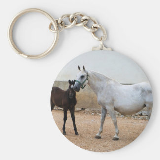 Lipizzan Mare and Foal Keychain
