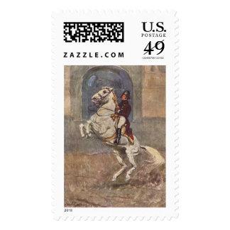 Lipizzaner Dressage: Courbette Postage Stamp