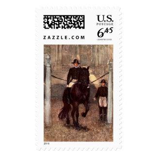 Lipizzaner Dressage: Piaffe Postage Stamp