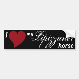 Lipizzaner horse car bumper sticker