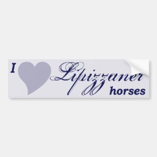 Lipizzaner horses car bumper sticker