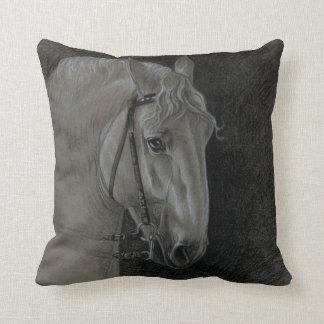 Lipizzaner Stallion Throw Pillow