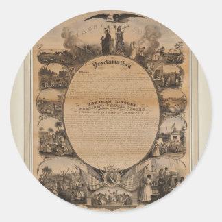 [Lipman Emancipation proclamation with narrative p Classic Round Sticker