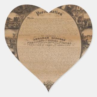 [Lipman Emancipation proclamation with narrative p Heart Sticker