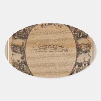 [Lipman Emancipation proclamation with narrative p Oval Sticker