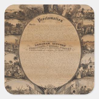 [Lipman Emancipation proclamation with narrative p Square Sticker
