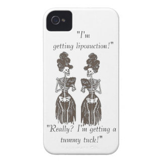 Liposuction Satire: Skin & Bones Speak Series iPhone 4 Covers