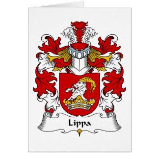 Lippa Family Crest Greeting Card