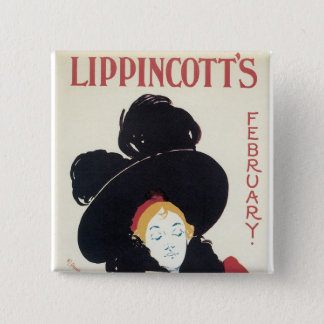 Lippincott's February Pinback Button