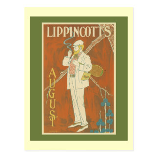 Lippincott's Magazine Tennis Cover Postcard