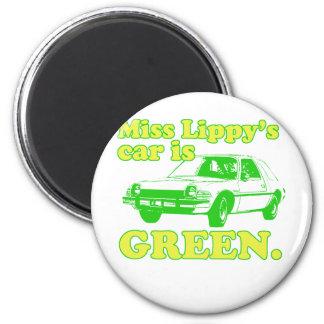 Lippy Car 2 Inch Round Magnet