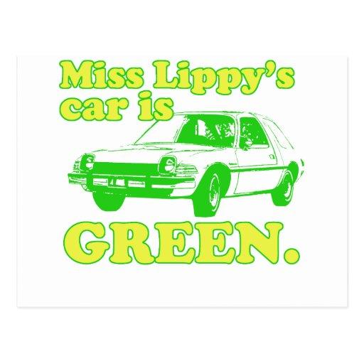 Lippy Car Postcard