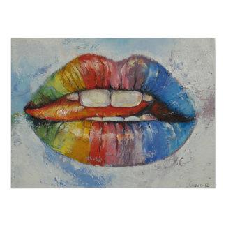 Lips 5.5x7.5 Paper Invitation Card