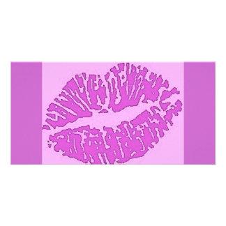 lips-7571-pinks customized photo card