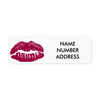 LIPS ADDRESS LABEL/BOOK LABEL