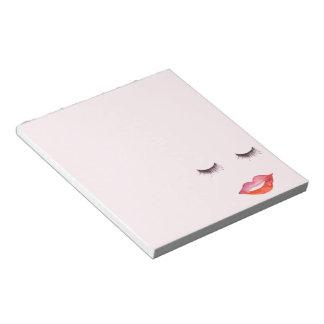 Lips and Eyelashes Notepad