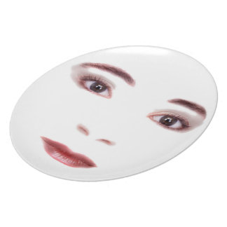 Lips and Eyes Dinner Plate