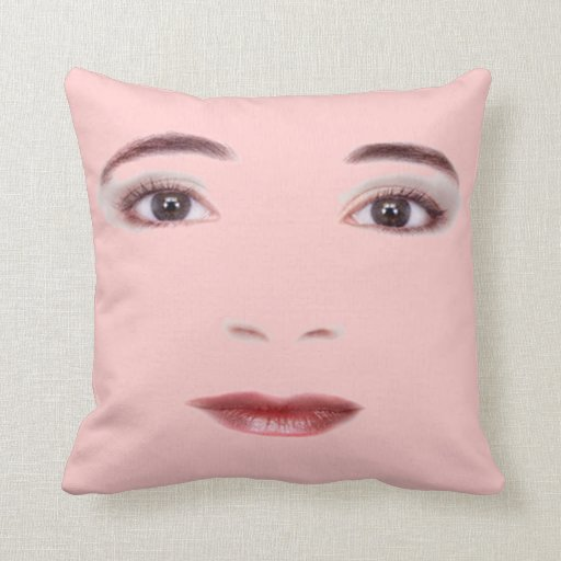 Lips and Eyes Throw Pillow