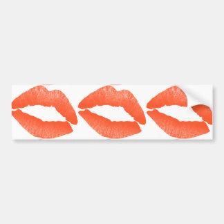 Lips and Kisses Bumper Sticker