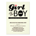 """Lips and Mustache Baby Gender Reveal Party Invite 5"""" X 7"""" Invitation Card"""