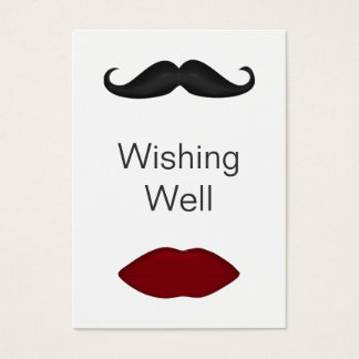 lips and mustache wishing well cards