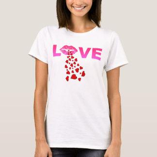 LIPS BLOW HEARTS T-Shirt