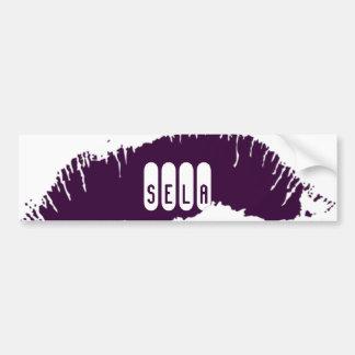 Lips Bumper Sticker