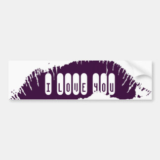 Lips Bumper Sticker Car Bumper Sticker