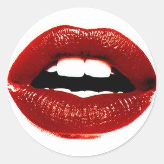 lips classic round sticker