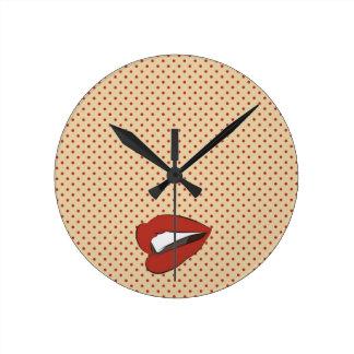Lips clock