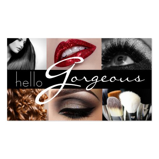 Lips eyes hair makeup artist business card zazzle for Hair and makeup business cards