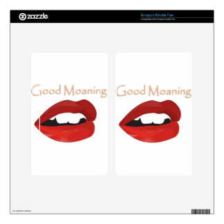 Lips Good Moaning To You Kindle Fire Skin