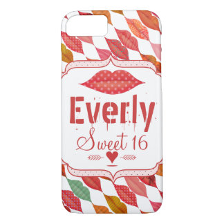 Lips Hipster Vintage Retro Sweet 16 iPhone 7 Case