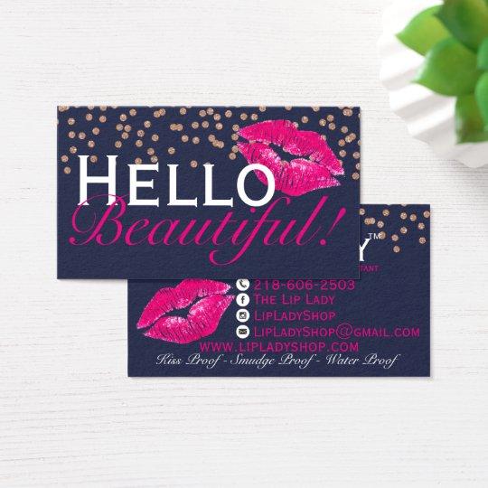 Lips lipsense mua kiss business cards zazzle lips lipsense mua kiss business cards reheart Gallery
