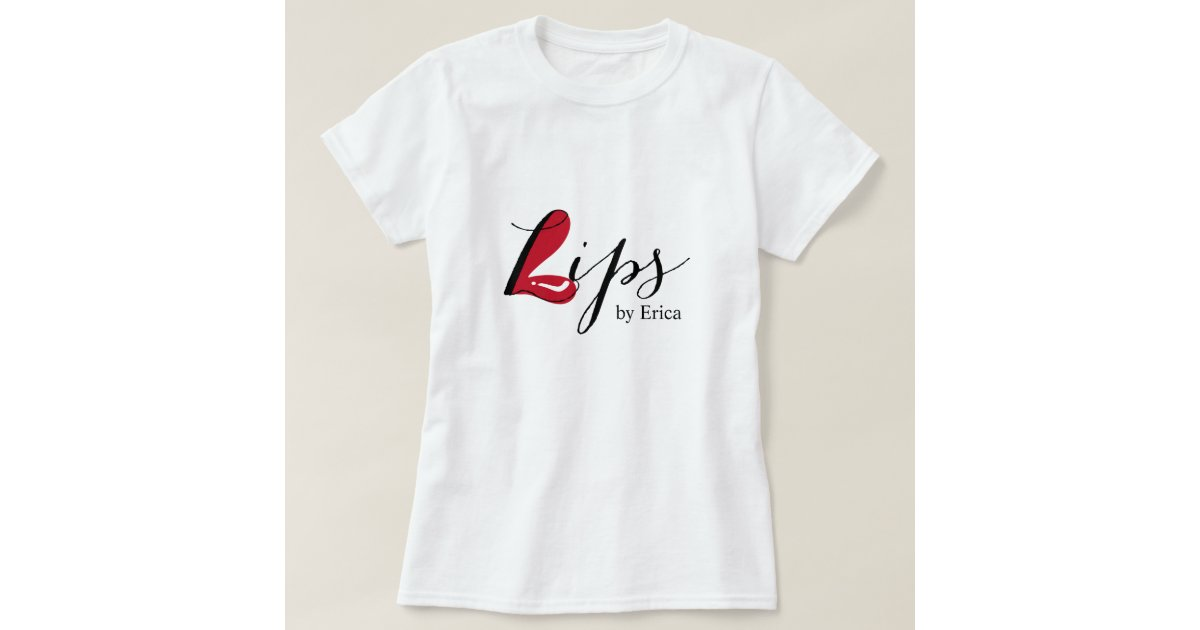 Lips makeup artist elegant beauty salon t shirt zazzle for Beauty salon t shirts