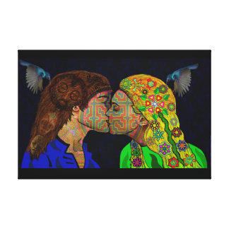 Lips Meeting of the Minds Canvas Print