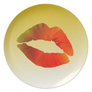 Lips Melamine Plate