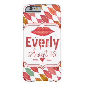 Lips Mrs. Hipster Vintage Retro Bride Barely There iPhone 6 Case