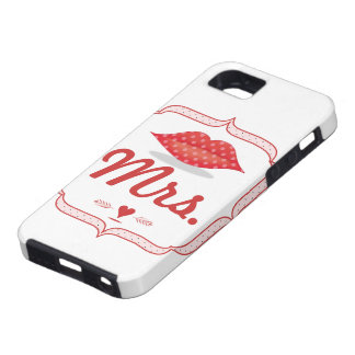 Lips Mrs. Hipster Vintage Retro Bride iPhone 5 Covers