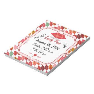 Lips Mrs. Hipster Vintage Retro Bride Notepad