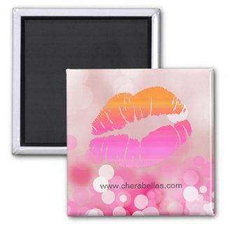 Lips n Lights Makeup Artist Salon Spa Beauty 2 Inch Square Magnet