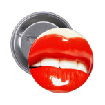 lips pinback buttons
