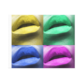 Lips Pop Art Art Canvas Print