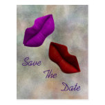 Lips Save The Date Commitment Ceremony Postcard