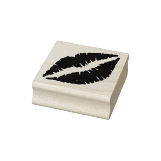 Lips - Sealed with a Kiss Rubber Stamp