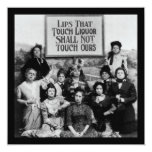 Lips That Touch Liquor Shall Not Touch Ours 5.25x5.25 Square Paper Invitation Card