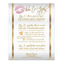 Lipsense Senegence Pink Glitter Lip Instructions Flyer