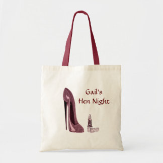 Lipstick and Red Stiletto Shoe Budget Tote Bag