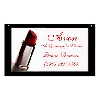 lipstick  business card classy Avon  red chic